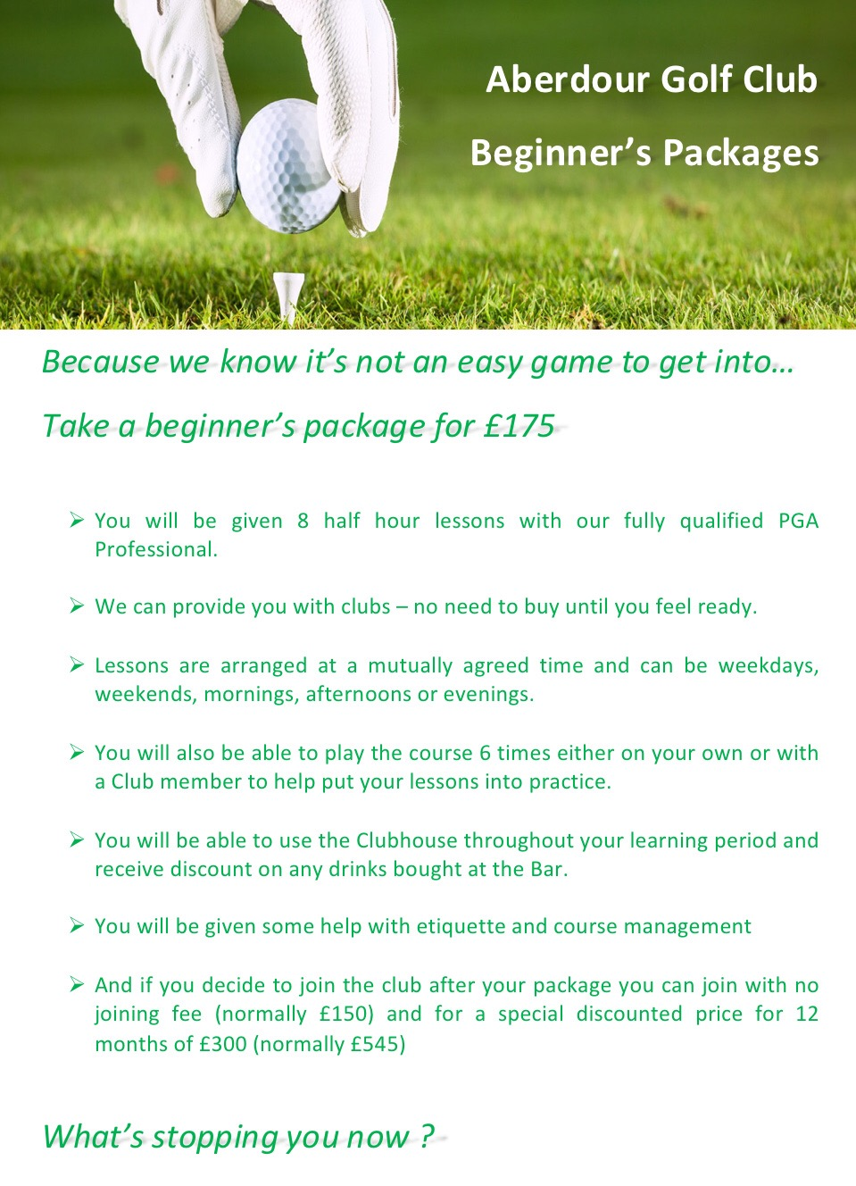 aberdour golf club business plan