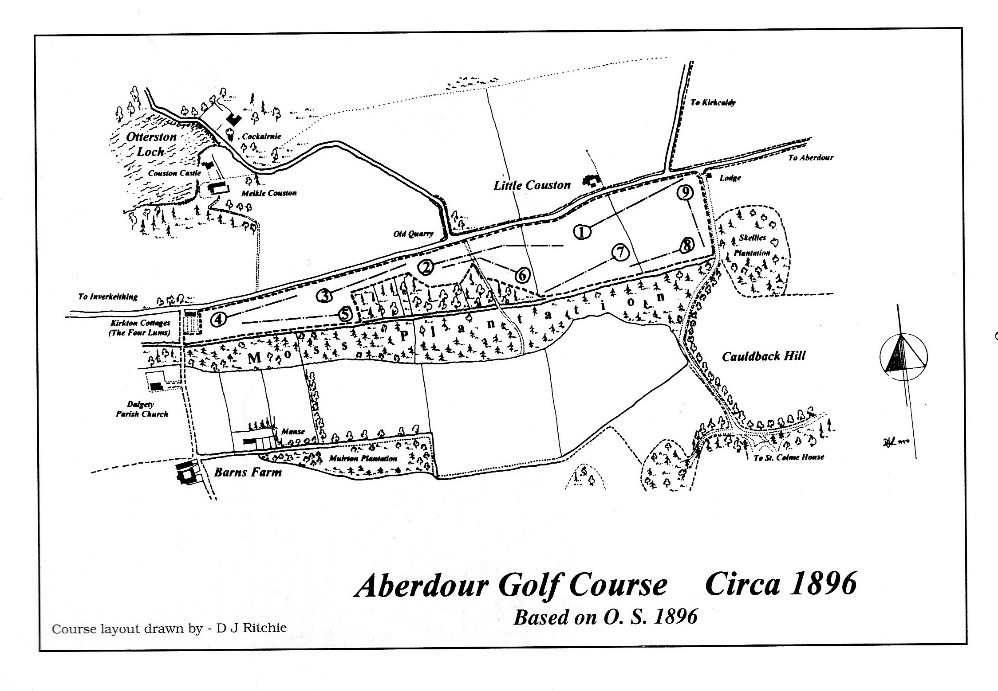 Course Layout  at Couston - 1896