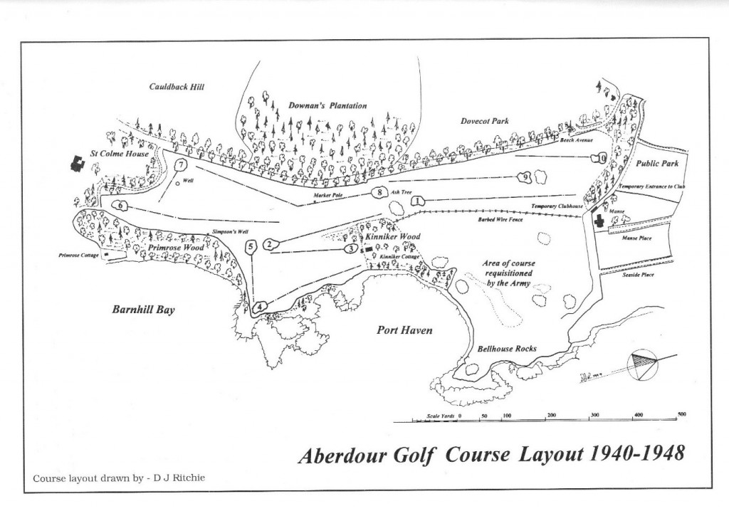 Course Layout 1940 to 1948